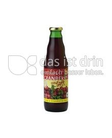 Produktabbildung: Steiners Bio Cranberry Saft 0,75 l