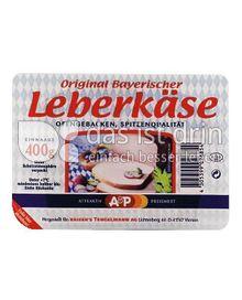 Produktabbildung: A&P Bayerischer Leberkäse 400 g
