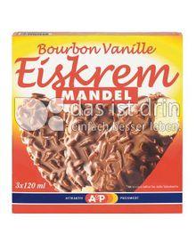 Produktabbildung: A&P Bourbon Vanille Eiskrem Mandel 120 ml