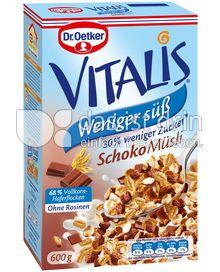 Produktabbildung: Dr. Oetker Vitalis Weniger süß Schoko Müsli 600 g