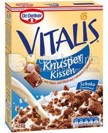 Produktabbildung: Dr. Oetker Vitalis Knusperkissen Schoko-Geschmack 600 g