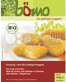 Produktabbildung: bömo Bio-Geflügel-Nuggets 160 g
