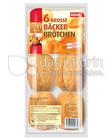 Produktabbildung: Rewe Bäckerbrötchen 360 g