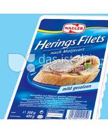 Produktabbildung: Nadler Heringsfilets nach Matjesart 500 g