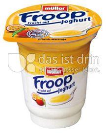 Produktabbildung: Müller Froop® Frucht auf Joghurt Pfirsich-Maracuja 150 g