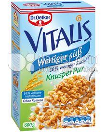 Produktabbildung: Dr. Oetker Vitalis Weniger süß Knusper Pur 600 g