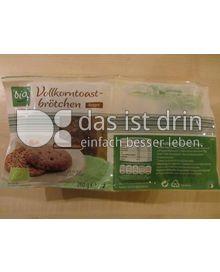 Produktabbildung: Aldi bio Vollkorntoastbrötchen Roggen 260 g