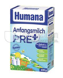 Produktabbildung: Humana Anfangsmilch pre 600 g