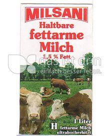 Produktabbildung: Milsani Haltbare fettarme Milch 1 l