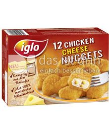 Produktabbildung: iglo 12 Chicken Cheese Nuggets 250 g