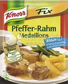 Produktabbildung: Knorr Fix Pfeffer-Rahm-Medaillons 35 g