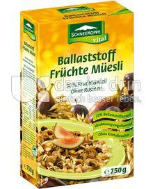 Produktabbildung: Schneekoppe vital Ballaststoff Früchte Müesli 750 g