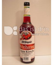 Produktabbildung: Oechelhaeuser Markenspirituosen Alt Siegener Saure Kirsche mit Wodka 700 ml