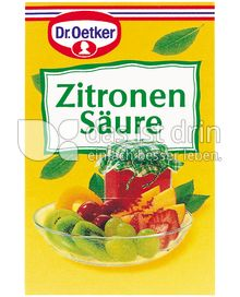 Produktabbildung: Dr. Oetker Zitronensäure 25 g