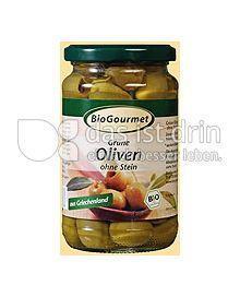 Produktabbildung: BioGourmet Grüne Oliven ohne Stein in Lake 315 g