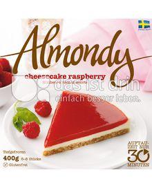 Produktabbildung: Almondy schwedische Mandeltorte cheesecake raspberry 400 g