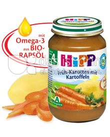 Produktabbildung: Hipp Früh-Karotten mit Kartoffeln 190 g