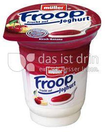 Produktabbildung: Müller Froop® Frucht auf Joghurt Kirsch-Banane 150 g