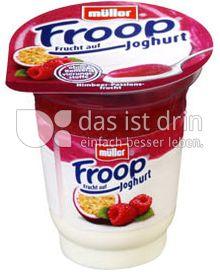 Produktabbildung: Müller Froop® Frucht auf Joghurt Himbeer- Passionsfrucht 150 g