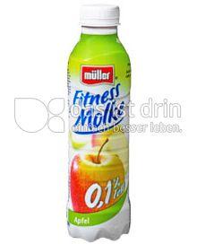 Produktabbildung: Müller Fitness Molke Apfel 482 ml