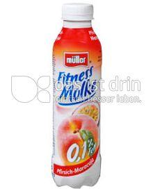 Produktabbildung: Müller Fitness Molke Pfirsich-Maracuja 482 ml