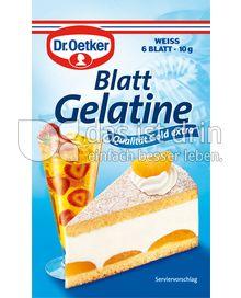 Produktabbildung: Dr. Oetker Blatt Gelatine weiss 10 g