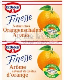 Produktabbildung: Dr. Oetker Finesse Natürliches Orangenschalen Aroma 6 g