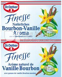 Produktabbildung: Dr. Oetker Finesse Natürliches Bourbon-Vanille Aroma 9,6 ml