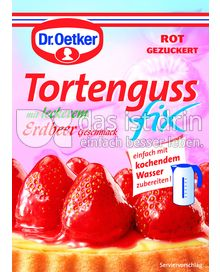 Produktabbildung: Dr. Oetker Tortenguss fix mit Erdbeer-Geschmack