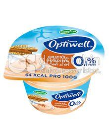 Produktabbildung: Optiwell Grießpudding Zimt 150 g