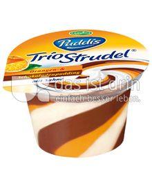 Produktabbildung: Puddis Trio Strudel Orangen- und Schokoladenpudding 135 g