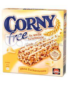Produktabbildung: Schwartau Corny free Weiße Schokolade 120 g