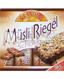 Produktabbildung: Granola Müsli Riegel Schoko 200 g