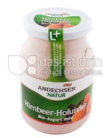 Produktabbildung: Andechser Natur Bio-Jogurt mild, Himbeer-Holunder 3,7% 500 g