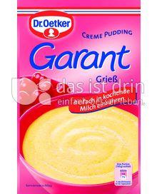 Produktabbildung: Dr. Oetker Garant Grieß
