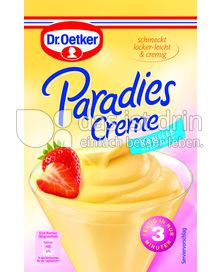 Produktabbildung: Dr. Oetker Paradies Creme Vanille-Geschmack 60 g