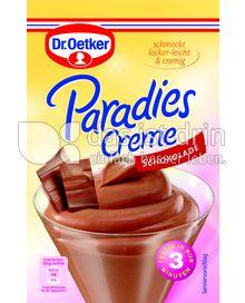 Produktabbildung: Dr. Oetker Paradies Creme Schokolade 74 g