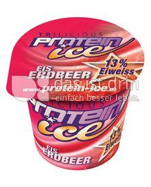 Produktabbildung: Trilicious Protein Ice Eis Erdbeere Eis 150 ml