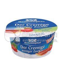 Produktabbildung: Weihenstephan Der Cremige weniger Zucker Erdbeer-Rhabarber 150 g