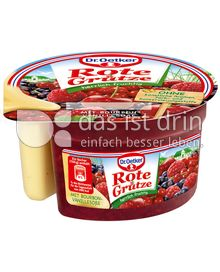 Produktabbildung: Dr. Oetker Rote Grütze mit Bourbon-Vanillesoße 160 g