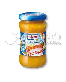 Produktabbildung: natreen Fruchtaufstrich Pfirsich-Vanille 225 g
