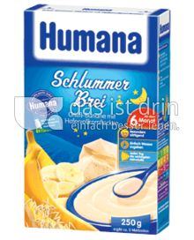 Produktabbildung: Humana Schlummer Brei Grieß-Banane mit Hafervollkornflocken 250 g