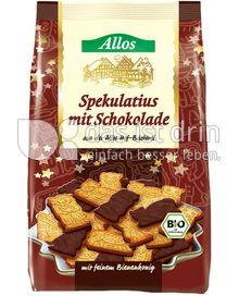 Produktabbildung: Allos Spekulatius mit Schokolade 125 g